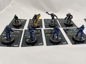 Halo Action Clix 12 Figure Lot Master Chief Arbiter Spartans Aliens W/ Maps