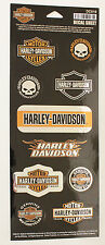 NEW Genuine Harley Davidson Bar Shield Willie G & other HD logo sticker sheet