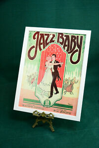 Altes Konzertplakat Poster um 1925. Jazz, Blues und Swingmusik, mit Rahmen