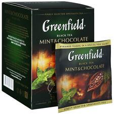 Tea Greenfield Mint and Chocolate black 20 pyramids * 1.8g