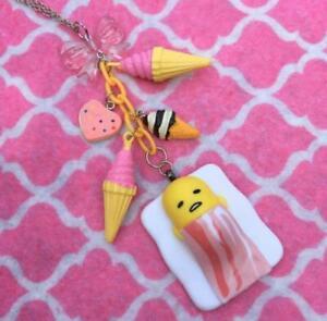 Gudetama Lazy Egg Ice Cream For Breakfast Kawaii Charm Necklace
