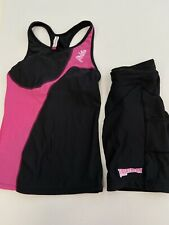 Women's Triathlon Set Size 6 - 8 Top And Compression Cycling Shorts Size XS
