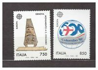 ITALIA MNH NUOVI 1992 Europa cept s32484 Columbus