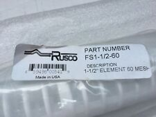"Rusco 1-1/2"" Polyester Spin Down FS1-1/2 60 Mesh Water Filter/Screen - 3 for 2$$"