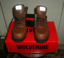 Wolverine Women's EAA Safety Toe Brown Leather Work Boots 83000 Size 6!