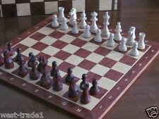 Brand New Hand Crafted  Mahogany Wooden Chess Set 48cm x 48cm Weighted Pieces