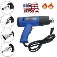 1500W Heat Gun Hot Air Wind Blower Dual Temperature + 4 Nozzles Power Heater US