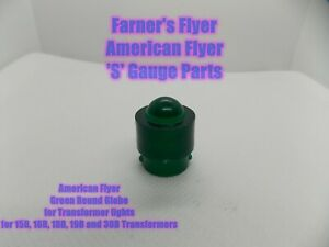 AMERICAN FLYER TRANSFORMER LIGHT COVER PA12A112 ROUND TOP GREEN - Repro