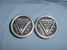 Hudson Vintage Screw On Hubcaps 1920 1921 1922 1923 1924 1925 1926 1927 1928