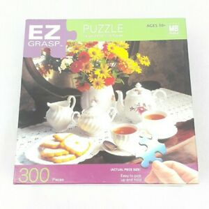 "EZ Grasp Puzzle 300 Pieces Cookies and Tea  18"" x  24"" Milton Bradley New Sealed"