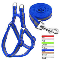 Nylon Reflective Dog Harness and Leash Set for Dogs Walking Small Medium Large