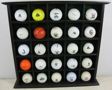 25 2000's Logo Golf Ball Collection in Wood Display Case Clubs & Course