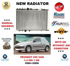 FOR PEUGEOT 206 BOX VAN 1.4 HDi 1.9 D 1999-2009 NEW RADIATOR ** OE QUALITY **
