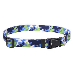 NEW Blue & Spring Green Dog and Cat Collar in Team Spirit Camo by Yellow Dog