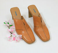 Nicole Tan Mules Leather Uppers 9M #B030