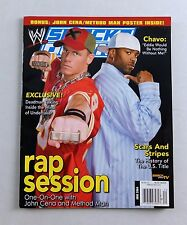 John Cena Method Man WWE WWF June 2004 Smackdown Wrestling Magazine POSTER RAW