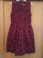 Ness Clothing Red Brenda Tapestry Floral Dress Size 8 - 70% Off RRP. New
