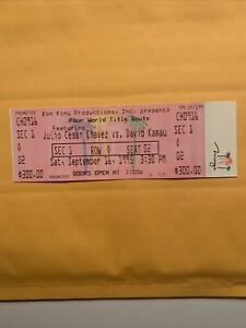 Julio Cesar Chavez vs David Kamau, 1995 FULL Unused $300 Ticket, Title Fight
