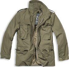 Brandit M65 Military Vintage Parka Jacket Field Army Combat Zip Warm Winter