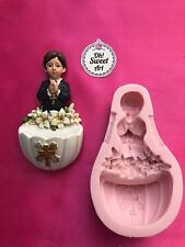 FIRST COMMUNION PRAYING BOY silicone mold fondant cake decorating toppers wax