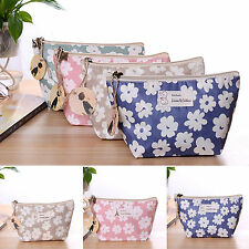 Cosmetic Makeup Floral Case Travel Bags Toiletry Holder Zip Wash Organizer Pouch