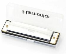 More details for new silver harmonica 10 hole key of c for blues rock jazz folk harmonica uk