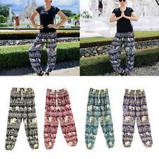 Thai Harem Trousers Loose Baggy Boho Hippy Smock Waist Elephant Yoga Pants Plus