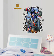 3D Large Optimus Prime Transformers Removable Wall Stickers Kids Wall Decal Art