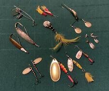 14 Vtg Shyster Mepps Gadabout Cp Hildebrandt Johnsons & Misc Fishing Lure Lot