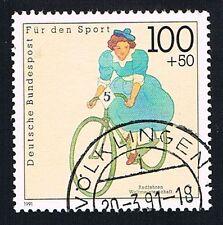 GERMANIA 1 FRANCOBOLLO PRO GIOVENTU CICLISMO 1991 usato