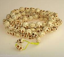 CLASSE SKULL TESCHIO crâne cranio mala Collana Party Goa 57b