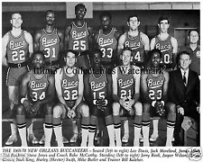 1969-70 NEW ORLEANS BUCCANEERS ABA BASKETBALL TEAM 8X10 PHOTO