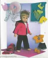 PATTERN for 18in doll Swimsuit Hoodie Soccer clothes McCalls 4896 bikini yoga