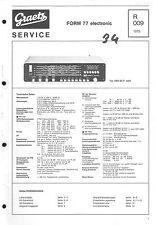 Graetz Service Manual für Form 77
