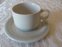Impressions by Daniele Riverside/Blue Mist-Blue Rim-Cup & Saucer(s)-Up to 6 Aval