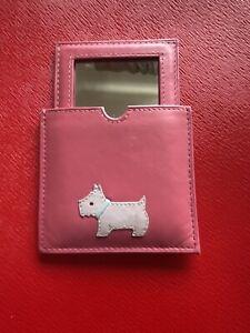 Radley, Handbag Mirror And Case, Pink.