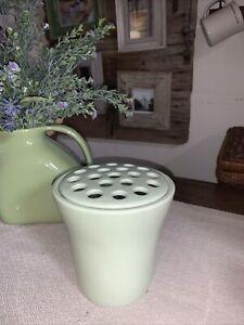 SOUTHERN LIVING At Home Ceramic Arrange It Easy Flower Frog Vase ~ Light Green