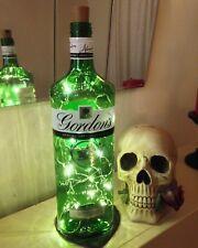 RETRO Gordon's Gin Litre Ltr Bottle Lamp Light with Warm White LED FREE P&P