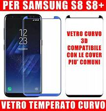 Pellicola Vetro Temperato Curvo FULL 3d Per Samsung Galaxy S8-S8 PLUS protezione