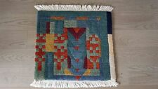 AUTHENTIC TUFENKIAN 100% WOOL PILE TIBETAN HAND KNOTTED 2x2' THROW RUG