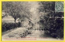 CPA France SABLONNIÈRES en 1907 (Seine et Marne) Le RÛ d'AVALEAU Vanne Ècluse