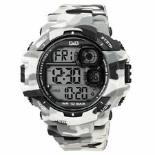 Original Q&Q M146j005y by Citizen Gray Camouflage Sport Mens Watch WR 10 Bar