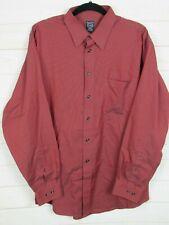Joseph & Feiss Mens Long Sleeve Red Button Up Dress Shirt Size 17 (34/35)  W1361