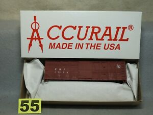 ACCURAIL HO SCALE #4115 C.N.J 40' WOOD BOXCAR KIT NEW