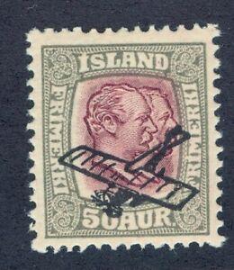 ICELAND #C2 OVERPRINT MNH VF