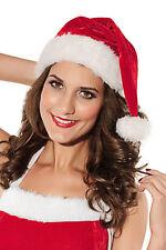 Christmas Santa Hat Red Velvet Classic Festive Stocking Cap Holiday 7045