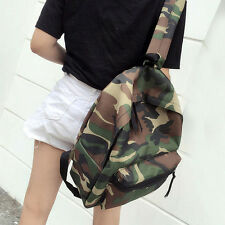 Women Camouflage Canvas Shoulder School Bookbag Backpack Travel Rucksack New