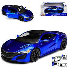 HONDA Acura NSX COUPE BLU nuovo modello a partire dal 2016 1/24 Maisto Modello auto con o