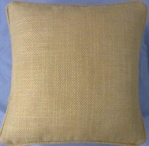 A 16 Inch cushion cover in Laura Ashley Dalton Camomile fabric