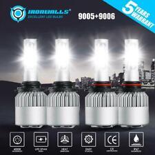 9006+9005 LED Headlight Kit 4000W 600000LM Hi-Lo Beam Combo Lamp Power 6000K HID